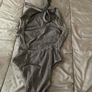 Bodysuit with tie back top